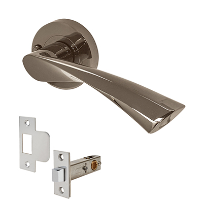 Excel Flex Door Handle - Privacy Kit - Black Nickel)