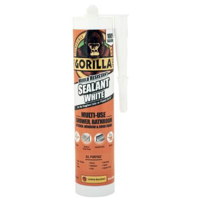 Gorilla Mould Resistant Sealant - 295ml - White)