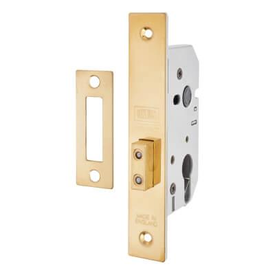 UNION® 2149 Euro Deadlock - 65mm Case - 44.5mm Backset - Brass)