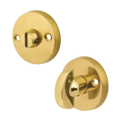Victorian Pattern Turn Knob & Release - Polished Brass