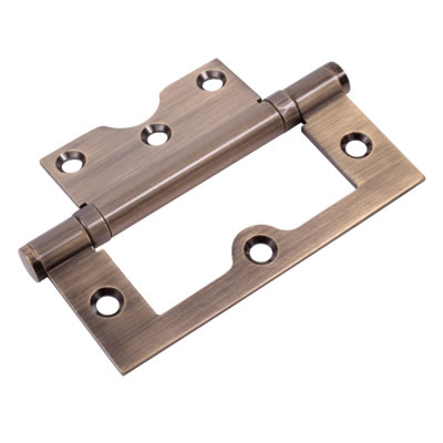 Ball Bearing Flush Hinge - 100 x 72 x 2.5mm - Antique Brass)