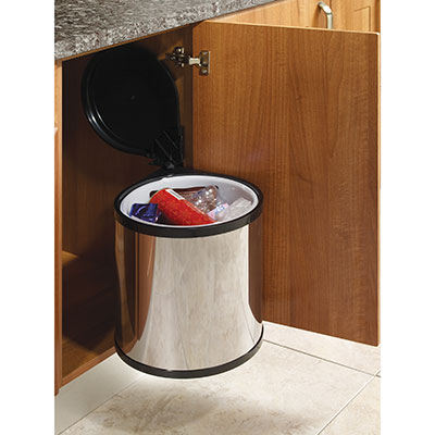 Auto-Open Waste Bin - 12 Litres - Stainless Steel)