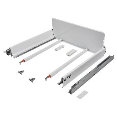 Blum TANDEMBOX ANTARO Pan Drawer - BLUMOTION Soft Close - (H) 203mm x (D) 500mm x (W) 800mm - White