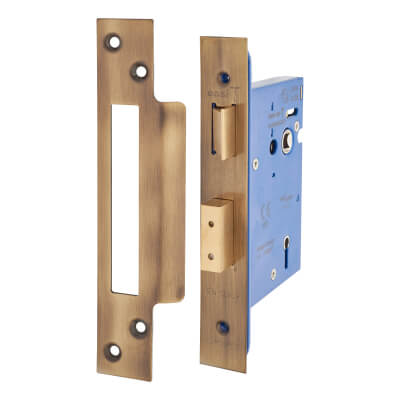A-Spec Architectural 5 Lever Sashlock - 78mm Case - 57mm Backset - Florentine Bronze