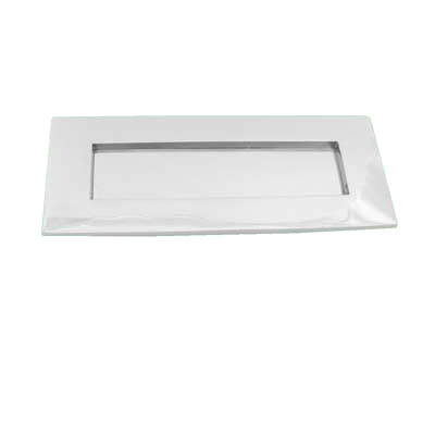 Letter Plate - 254 x 102mm - Polished Nickel